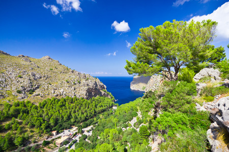 Beautiful view of Sa Calobra on Mallorca Island, Spain photo