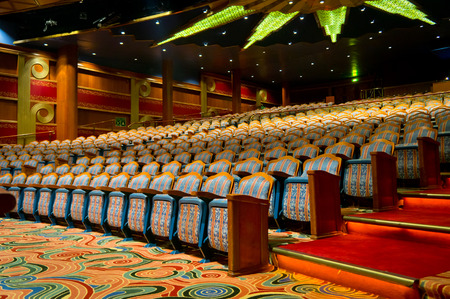Beautiful view of elegant traditional theatre hall