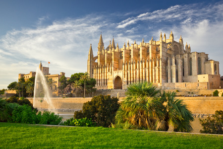 The Cathedral of Santa Maria of Palma de Mallorca, La Seu, Spain 写真素材