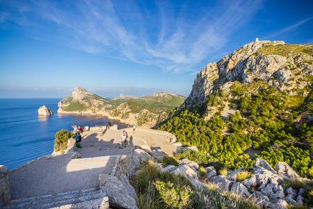 spain: Beautiful view of Cap de Formentor, Mallorca, Spain Stock Photo