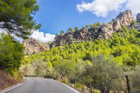 sa: Beautiful view of Sa Calobra on Mallorca Island, Spain