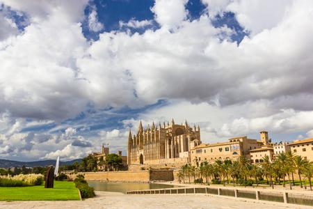 santa maria: The Cathedral of Santa Maria of Palma de Mallorca, La Seu, Spain Stock Photo
