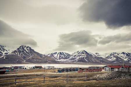 Northern Norway, Longyearbyen in Spitsbergen, Svalbard Stock Photo