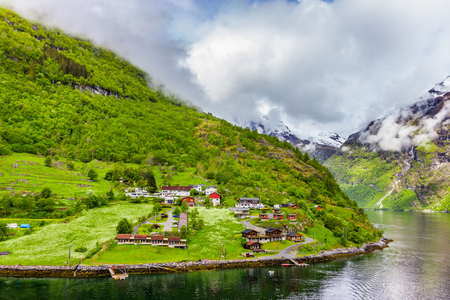 Beautiful view of Geirangerfjord, Norway Stock Photo