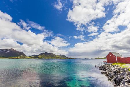 ノルウェーのロフォーテン諸島の美しい景色 写真素材