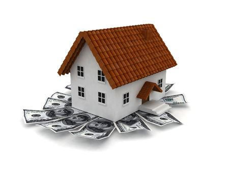 Houses for sale model and the American dollar Stock Photo - 7503988