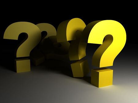 3d question marks Stock Photo - 7503984