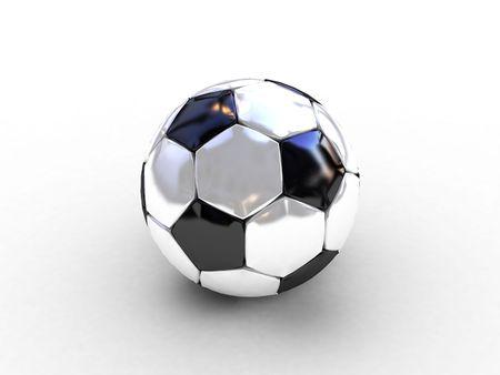 3d black-white soccer ball photo