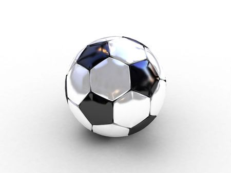 3d black-white soccer ball photo