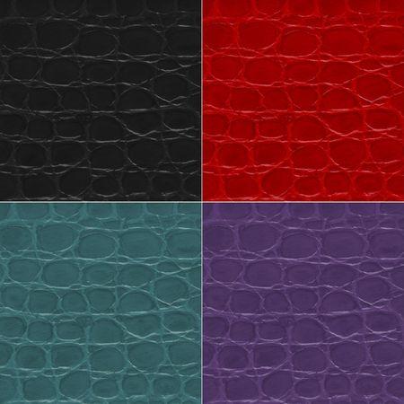 Seamless pattern of crocodile textured leather photo