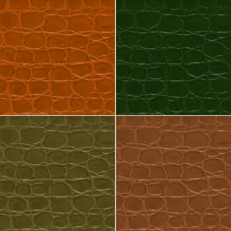 currying: Seamless pattern of crocodile textured leather