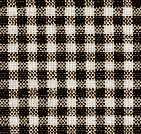 Black-white plaid pattern fabric texture. photo