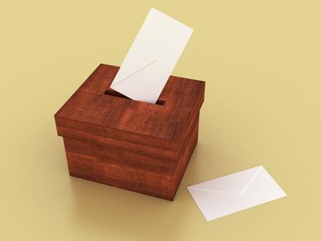ballot box: vote box with envelope