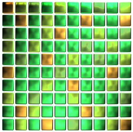 Green colored mosaic  photo