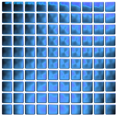 blue mosaic  photo