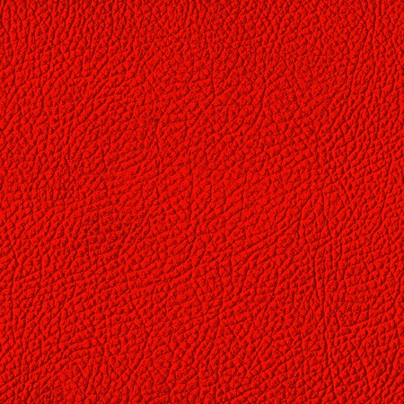 Red leather texture. (high res. scan)  Stock Photo