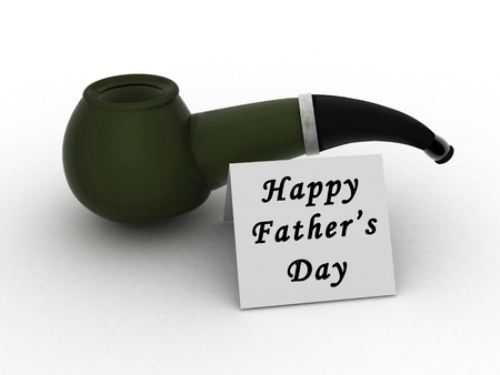fathers day special pipe, and the message photo