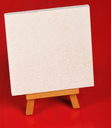message for empty easel Stock Photo - 9225431