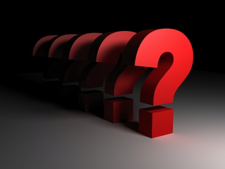 3d question marks Stock Photo - 9225420