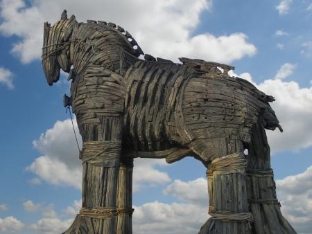 cavallo di troia: Cavallo di Troia in Piazza Canakkale, Turchia