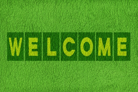 welcome mat: Welcome message background