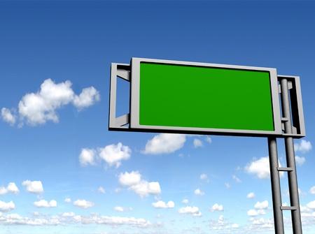 uithangbord: leeg teken boord