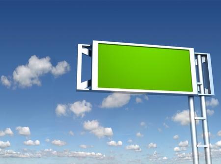 placa do sinal em branco Banco de Imagens