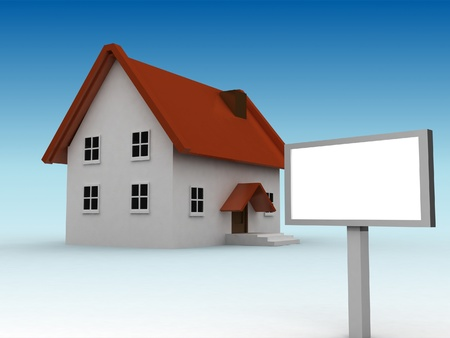 home model and free message board Stock Photo - 9242488