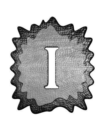 coating: 3d metal one roman number