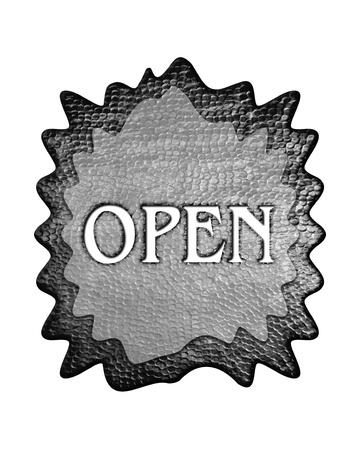 shopsign: 3d metal open mark