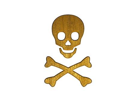 horrid: 3d golden danger symbol