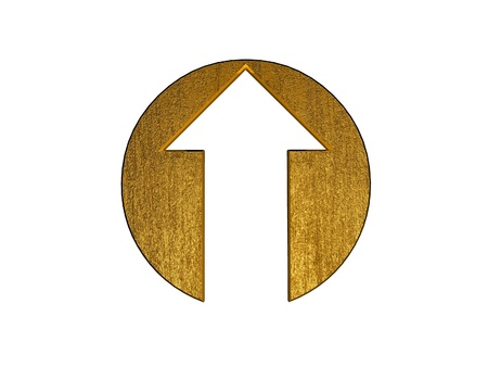forward icon: 3d golden arrow symbol
