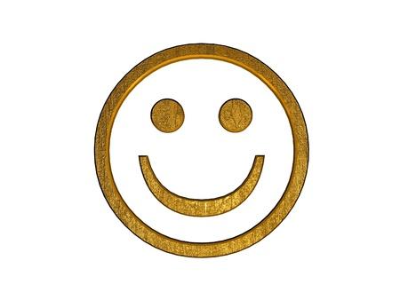 3d golden smile symbol Stock Photo - 9246053