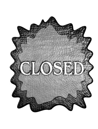 shopsign: 3d metal closed sign  Stock Photo