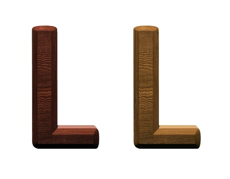 one letter of wooden alphabet. Computer generated 3D photo rendering. photo