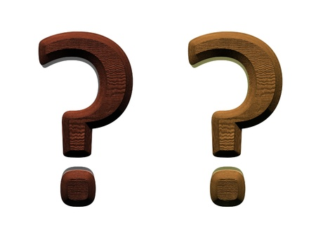 3d wooden question marks Computer generated 3D photo rendering.  Stock Photo - 9269633