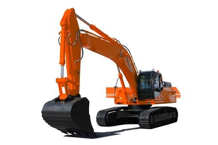 Background. Orange bulldozer  photo