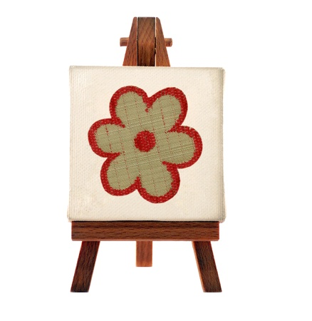 flower picture on a wooden tripod Stock Photo - 9269669