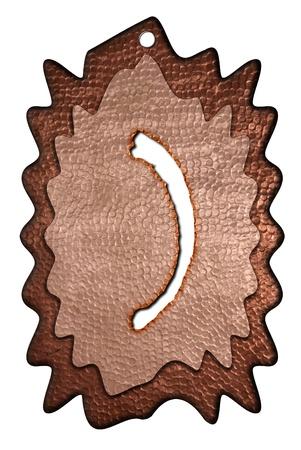 parentheses: 3d bronze parentheses mark