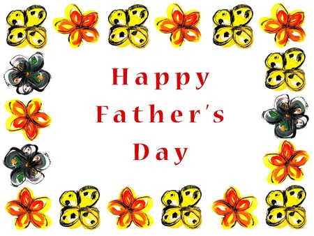 happy father's day message Stock Photo - 9316640