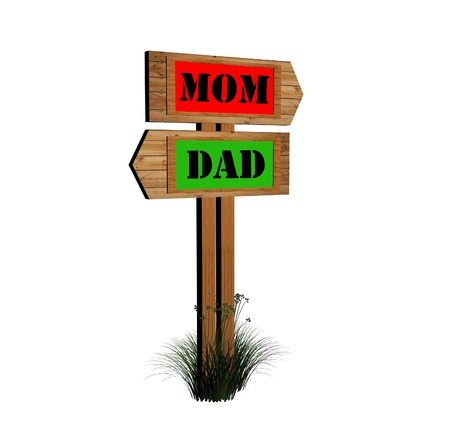 father's day sign board Stock Photo - 9276723
