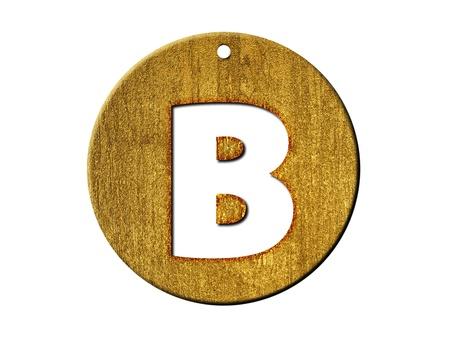 One letter of golden alphabet photo
