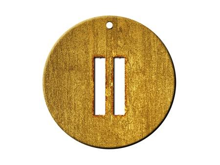 numeric: 3d golden roman numeral