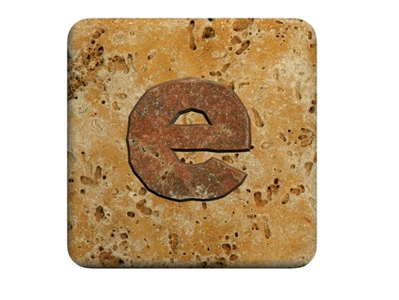 communicate  isolated: 3d Letter a in stone, on a white isolated background.