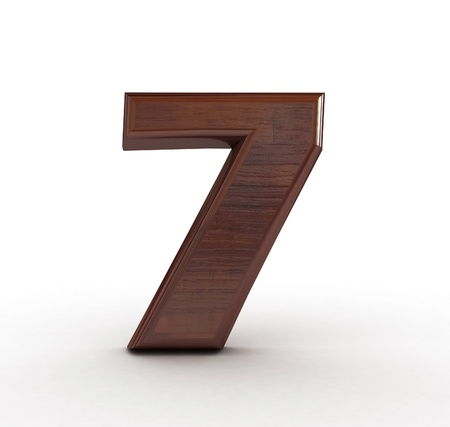 High res. 3D wooden numbers isolated photo