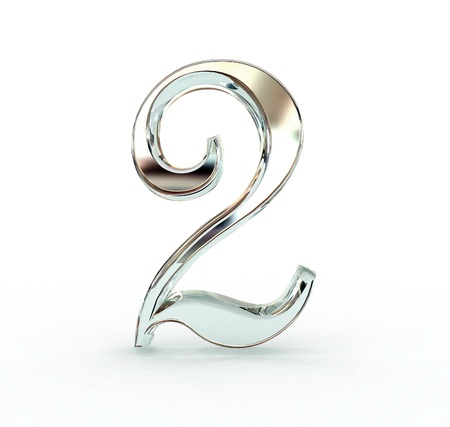 3D-nummer geïsoleerd. Stockfoto