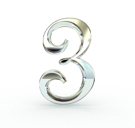 3d number isolated. photo