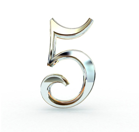 3d number isolated.