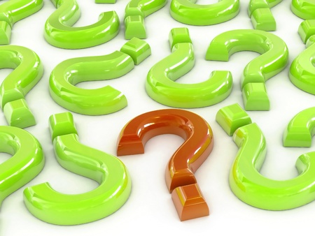3D Rendering of a Question Marks. Stock Photo - 10251809