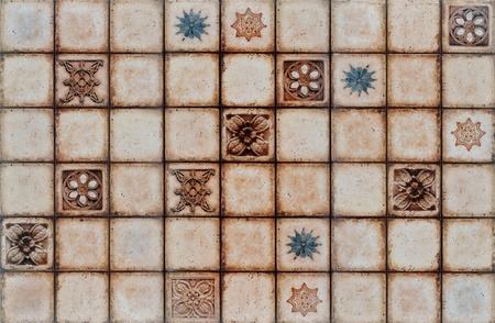 mosaic tile: Digital rustico mosaico sfondo a sezioni.